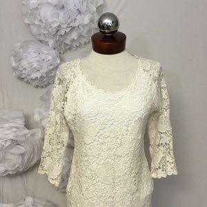 Velvet by Graham & Spencer Dresses - Velvet by Graham and Spencer Crochet dress L
